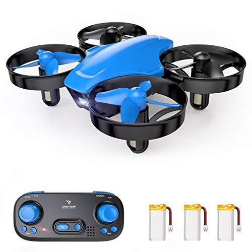 SNAPTAIN SP350 Mini Drone Enfant avec 3 Batteries,21 Mins Autonomie et Télécommande, Mode sans Tête,Maintien de l'altitude pour Enfants et Débutants