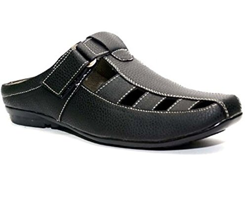 Wonker black casual open sandels  available at amazon for Rs.449