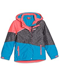 ROSSI Mädchen-Skijacke Colour-Blocking micro-Airtex wasserdicht winddicht Anti-Pilling