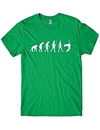 Evolution of a Guitarist Mens Guitar Player T-Shirt Gift (Small, Green)