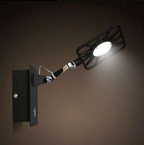 DENG Appliques Créatif Simple Culbuteurs réglables LED Moderne Industriel Abat-Jour Métal personnalité Intérieur Chevet Fixation Éclairage Décoration