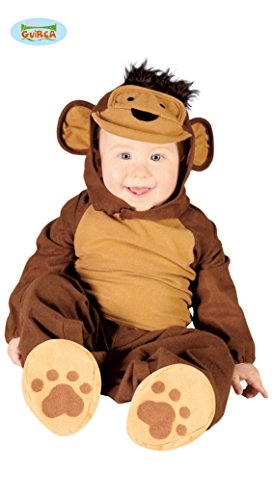 Baby Kostüm Affe Overall Monkey braun Kinderfasching Größe 6-12 - Niedliche Kostüm Für 11 Jahre Alt