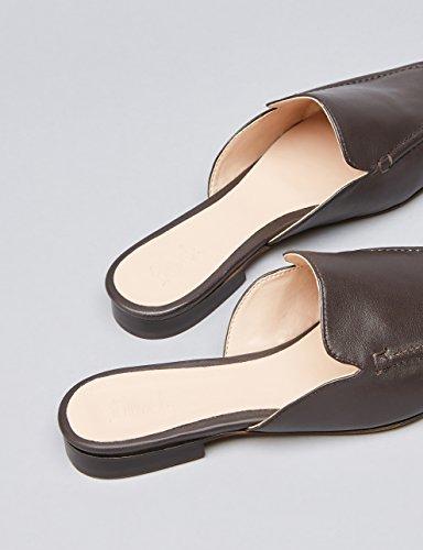 FIND Damen Slipper mit Absätzen Braun (Choco)