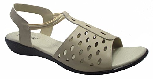 Sammy mode casual en plein air sandales plates des femmes Floater tongs Beige