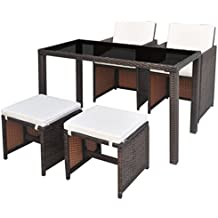 Amazon.es: mesas y sillas de ratan comedor