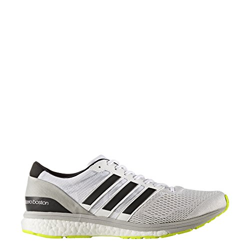 adidas Herren Adizero Boston 6 Laufschuhe Weiß (Footwear White/silver Metallic/solar Yellow)