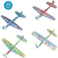 Comius Set de 24 Aviones planeadores de Papel, Niños Aeroplanos voladores Detalles de Fiesta, Rellenos de Bolsas de Fiesta, premios de Clase, Regalos, etc.