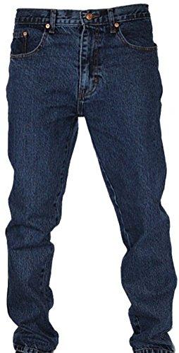 Neu Herren Bequeme Passform Euro Denim Jeans Gerades Bein Freizeit Blau Schwarz 30-48 Works Grau - Stone wash (darker)
