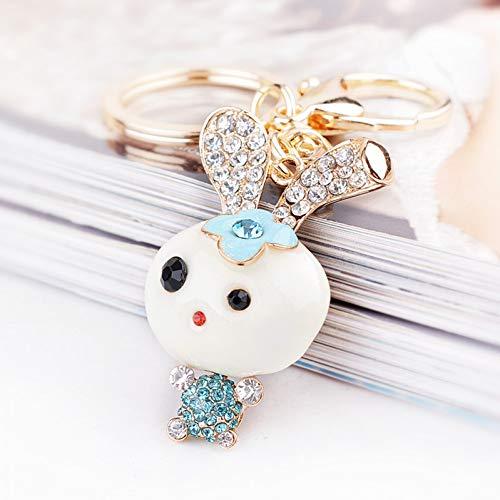 XYAYA Schlüsselbund Reizendes Kaninchen-Häschen Keychain Legierung Keychain Frauen U. Mädchen Cute & Pendant Key Ring 3 Farben, (Häschen Anzug Für Frauen)