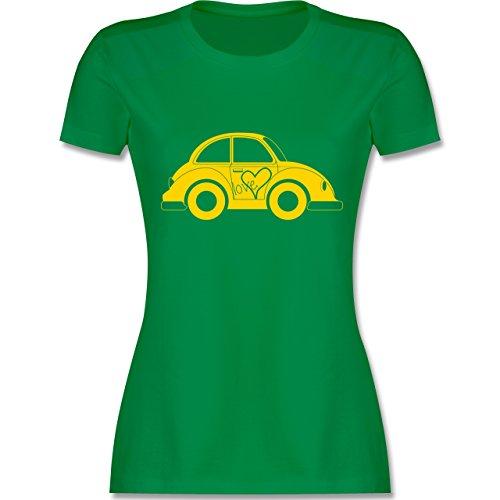 Autos - Liebes Beetle Auto - tailliertes Premium T-Shirt mit Rundhalsausschnitt für Damen Grün
