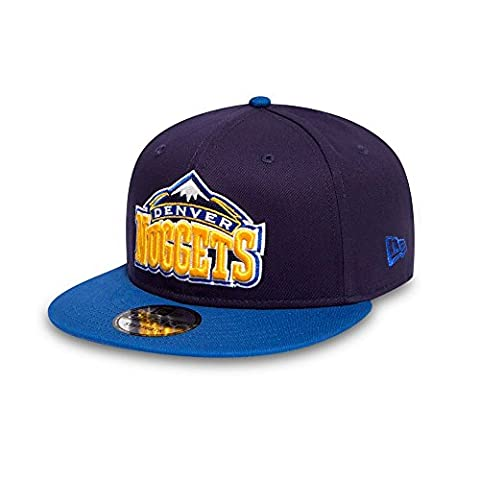 New Era Men's Nba Team 9FIFTY Denver Nuggets Cap, Navy, Medium/Large