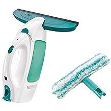 Leifheit Dry and Clean Raamzuigerset met inwasmachine voor 360° streepvrije reiniging, raamreiniger bruikbaar tot 35 minuten, raamreiniger met stand-by-automatisch en kliksysteem