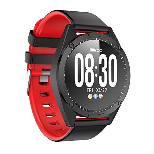 ZCC Exquisite Smart Watch Männer Frauen Smart-Armband OLED-Bildschirm-Puls-Monitor Blutdruck Fitness Tracker Sport Smartwatch Für Android IOS (Color : Red)