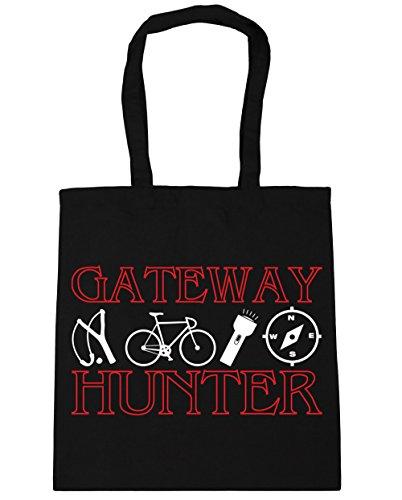 hippowarehouse GATEWAY Hunter Tote Shopping Gym Beach Bag 42cm 3838, 10Liter, schwarz, One Size (Kompass Schwarz Tote Bag)