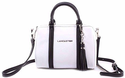 damen-schoulter-taschen-lancaster-paris-blanc-noir-cuir-vachette-france-leder