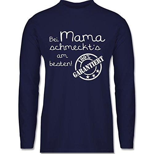 Küche - Bei Mama schmeckt's am besten - Longsleeve / langärmeliges T-Shirt für Herren Navy Blau