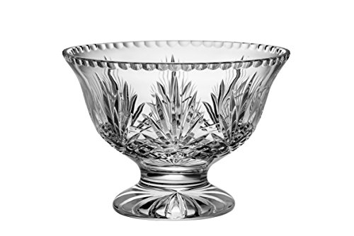 Majestic Gifts High Quality Hand Cut Crystal Footed Bowl 10