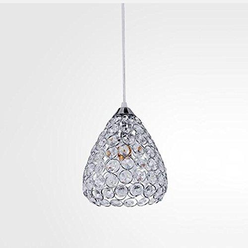 SEXY- Pendelleuchte Kronleuchter Lampen Chrom Feature für LED Kristall Wohnzimmer/Esszimmer/Küche/Kinder Zimmer/Flur -Kronleuchter für Innenbeleuchtung (Farbe : Chrom-1light) - Chrome Kronleuchter