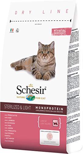 Schesir Cat Sterilized&Light Prosciutto 10 kg.