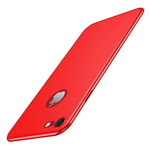 Custodia iPhone 7 Cover, Custodia Placcatura TPU Bumper Case Silicone Anti-graffio Copertura Tacsa Caso per apple iPhone 7 Case Cover (Nero) Rosso
