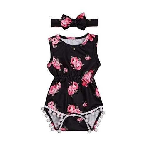douleway Baby Mädchen (0-24 Monate) Kleid Gr. 12-18 Monate, Schwarz