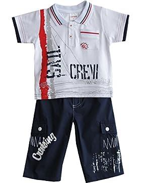 Schnizler Jungen Bekleidungsset Crew 2 Tlg. mit Poloshirt und Langer Cargohose