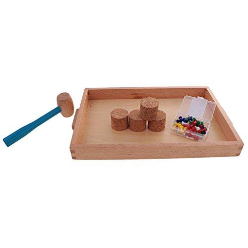 Sharplace Juego Educativo Niños Bebé Montessori Material Práctica Diaria Escuela Hogar Juguetes Artesanales de Madera
