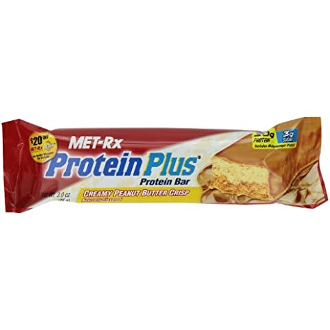 MET-Rx Protein Plus Creamy Peanut Butter Crisp 85gr bar, 12 X 3.0 oz box
