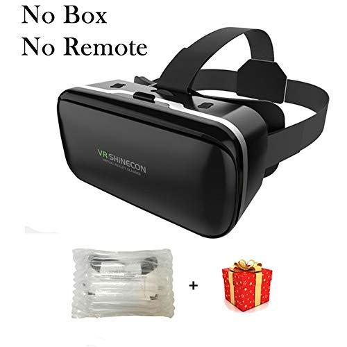IN THE DISTANCE Brille-Kopfhörer-Sturzhelm VR 6.0 Casque Virtual Reality Glasses 3 D 3D Für Smartphone-Smartphone-Pappe (Color : No Box No Remote)