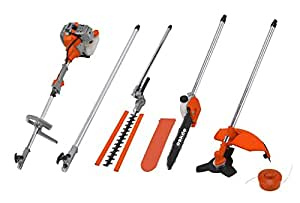 eSkde 52cc Petrol Brushcutter Strimmer Hedge Trimmer Chainsaw 5in1 Multi Tool