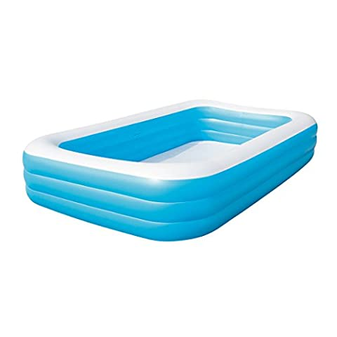 Bestway Family Pool Blue Rectangular Deluxe, 305x183x56