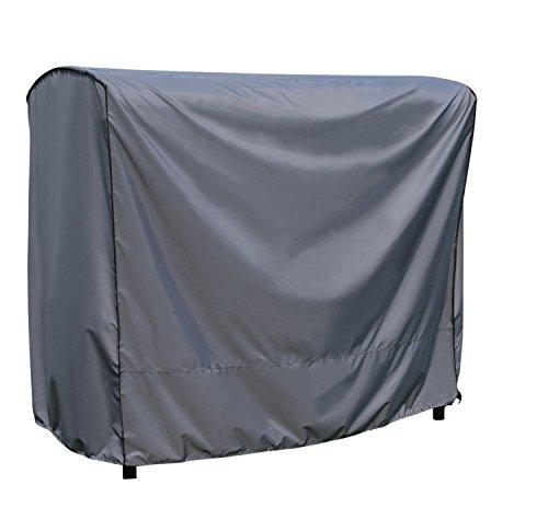 Schutzhülle / Cover für Hollywoodschaukel | Grau | 203 x 145 x 183 cm (L x B x H) | Wasserabweisend | SORARA | Polyester & PU Coating (UV 50+)| Premium | Abdeckhaube / Wettershutz | Regenfest | für Outdoor Garten Möbel