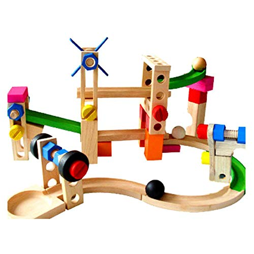 NgMik Kinder 3-12 Jahre Achterbahn Track Ball Track Bausteine   Kinderspielzeug Schöpfung Kinder Lernspielzeug Brain Games (Color : Multi-Colored, Size : One Size)