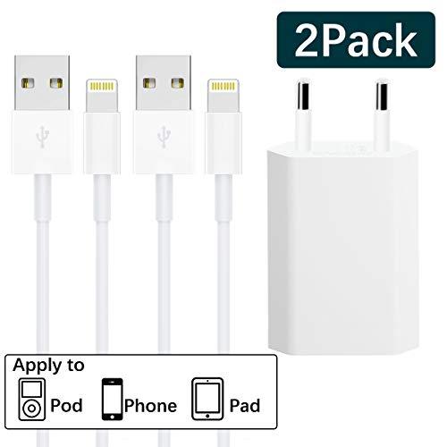 WUXIAN [MFI certifié] Câble Phone [4-Pack 6ft] de Nylon Tressé Connecteur en Aluminium Compatible avec iPhone X/8/8 Plus /7/7 Plus/6S/6S Plus/ 6/6 Plus-bleu, orange, vert