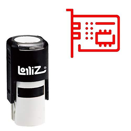 LolliZ Modern Symbol Series - Motherboard Self-Inking Rubber Stamp (Moderne Motherboard)