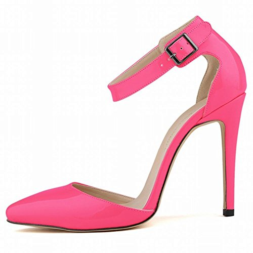 L@YC Femmes Chaussures à Talons Hauts avec La Peinture Fine-Pointue Jupe BoîTe De Nuit De Couleur Peu Profonde pink