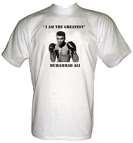 Muhammad Ali Uomo T Shirt White M 52/54