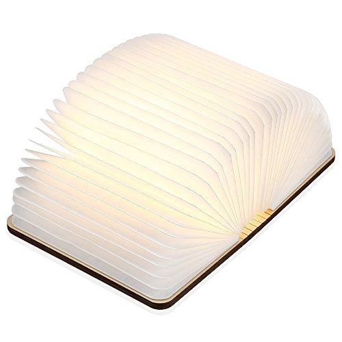 Mini Folding buch Lampe, iLifeSmart USB Aufladbare Hölzerne Faltende Buch LED Lampe (Lampe Hölzerne)