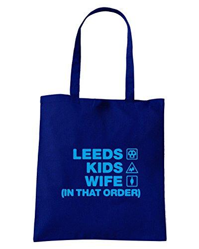 T-Shirtshock - Borsa Shopping WC1087 leeds-kids-wife-order-tshirt design Blu Navy