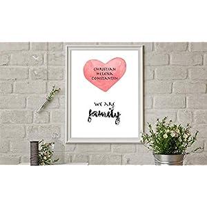 We are Family Poster mit Namen der Familie personalisiert, Besondere Geschenkidee für Eltern, Familie sowie persönliche…