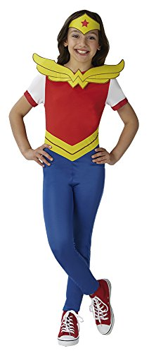 Kostüm Wonderwoman Kind - Super Hero Girls Kinder-Kostüm Wonder Woman SHG, Größe 9 - 10 Jahre (140 cm)