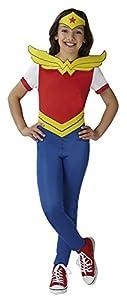 DC Comics - Disfraz de Wonder Woman oficial para niña, infantil 9-10 años (Rubie