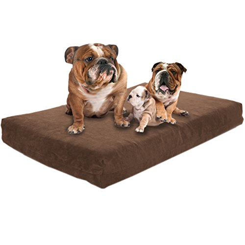 Back Support Systems Premium Hund Betten-Gel Orthopädische Memory Foam-100% Made in USA-Luxus Waschbar Pet Bett,-XXL 139,7x 94x 11,4cm, XXL, Schokoladenbraun