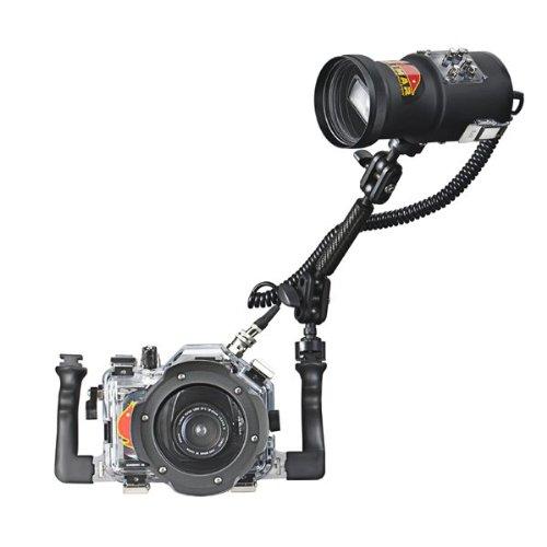 Unterwasserblitz für Canon Spiegelreflexkamera - Pack Unterwassergehäuse für Nissin Di466 + Blitz Di466 Nissin+Arm