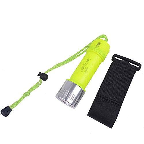zantec Mini 60m wasserdicht Taschenlampe Unterwasser Tauchen Helle T6LED Taschenlampe Taschenlampe Lampe mit Armband (Led-stinger-taschenlampe)