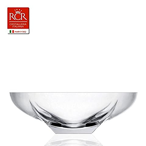 RCR Fusion Crystal Bowl Large Italian Crystal Glass Fruit Bowls Centerpiece 30cm