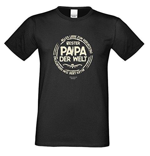 Fun T-Shirt Bester Papa der Welt als Geburtstags-Weihnachts-Vatertags-Geschenk für Ihren Daddy Papa Vater auch Übergrößen 3XL 4XL 5XL in vielen Farben schwarz-02
