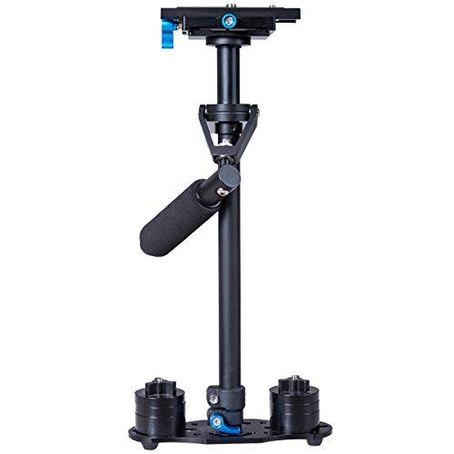 COSTWAY Handstabilisator Halterung für Camcorder DV Kamera Video DSLR Kohlefaser mit Schnellwechselplatte