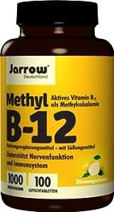 Jarrow Deutschland Methyl B12 1000 µg Lutschtabletten mit Zitronengeschmack, 100 Stück, 1er Pack (1 x 100 Stück)
