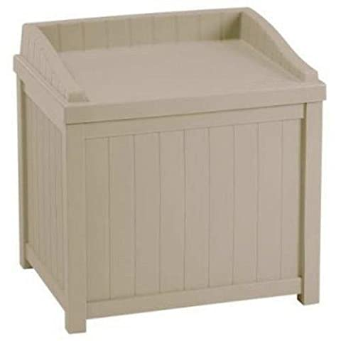 SUNCAST CORP - Deck Storage Box With Seat, Taupe Resin,
